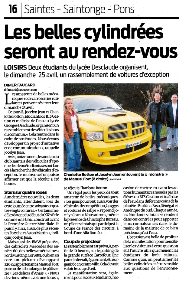 Sud Ouest - 13 Avril 2010, Page 16