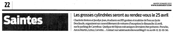 Sud Ouest - 30 Mars 2010, Page 22