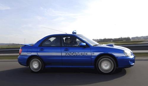 Subaru Impreza WRX de la Gendarmerie Nationale