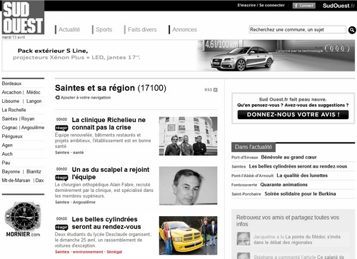 SudOuest.com - 13 Avril 2010